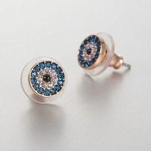 Swarovski Luckily Evil Eye Pierced Earrings